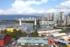 De markt van het Eiland van Granville, Vancouver BC Canada. Royalty-vrije Stock Afbeeldingen