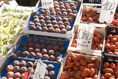 De markt van het fruit Royalty-vrije Stock Afbeeldingen