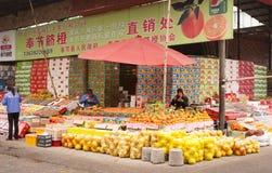 De markt van het fruit, Chongqing royalty-vrije stock foto