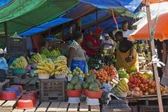 De markt van het fruit in Zuid-Afrika royalty-vrije stock afbeelding