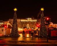 De markt van het Kerstmisfestival in Berlijn Stock Fotografie