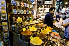 De Markt van het kruid - Istanboel Stock Foto's