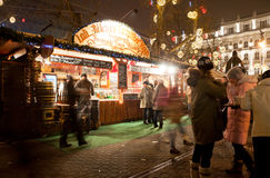 De markt van het nieuwjaar in Boedapest Royalty-vrije Stock Afbeelding