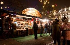 De markt van het nieuwjaar in Boedapest Royalty-vrije Stock Foto's