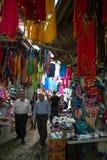 De markt van het oosten in Oude stad van Akko, Israël stock fotografie