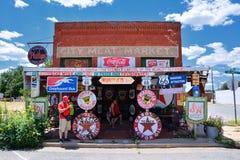 De Markt van het Stadsvlees in Erick, Oklahoma Royalty-vrije Stock Fotografie
