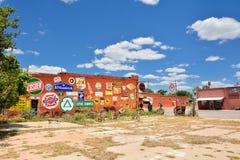 De Markt van het Stadsvlees in Erick, Oklahoma Stock Fotografie