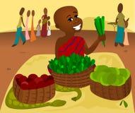 De Markt van het voedsel stock illustratie