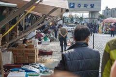 De Markt van Jagalchivissen in Busan-stad, Zuid-Korea royalty-vrije stock fotografie