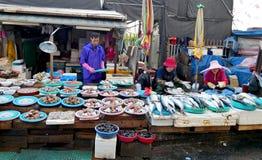 De markt van Jagalchizeevruchten royalty-vrije stock afbeelding