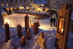 De markt van Kerstmis Stock Afbeeldingen