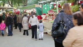 De Markt van Kerstmis stock footage