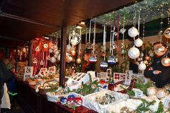 De Markt van Kerstmis Stock Foto's