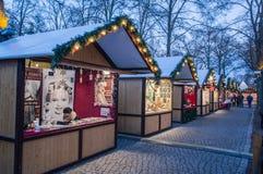 De markt van Kerstmis in Berlijn Stock Foto's