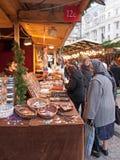 De markt van Kerstmis in Boedapest, Hongarije Stock Afbeeldingen