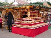 De markt van Kerstmis in Boedapest, Hongarije Royalty-vrije Stock Foto's