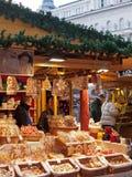 De markt van Kerstmis, Boedapest, Hongarije Stock Fotografie