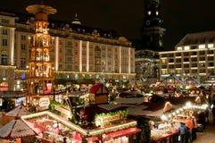 De Markt van Kerstmis in Dresden Royalty-vrije Stock Afbeeldingen