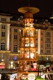 De Markt van Kerstmis in Dresden Royalty-vrije Stock Afbeelding