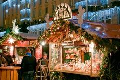 De Markt van Kerstmis in Dresden Royalty-vrije Stock Foto's
