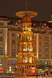 De Markt van Kerstmis in Dresden Stock Foto