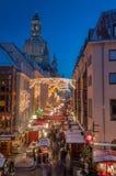 De Markt van Kerstmis in Dresden Stock Fotografie