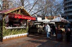 De markt van Kerstmis in Duitsland, Pforzheim Stock Foto's