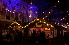 De Markt van Kerstmis Grote foto stock fotografie