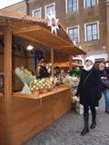 De markt van Kerstmis, Lublin, Polen Stock Fotografie