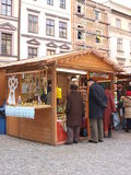De markt van Kerstmis, Lublin, Polen Royalty-vrije Stock Foto
