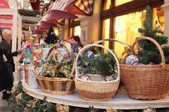 De markt van Kerstmis in Moskou Stock Foto's