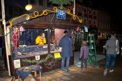 De markt van Kerstmis in Offenburg, Duitsland Stock Foto