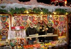 De markt van Kerstmis in Offenburg, Duitsland Stock Afbeelding