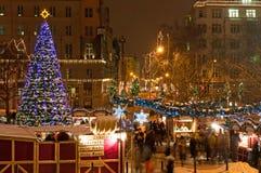 De Markt van Kerstmis in Praag Royalty-vrije Stock Foto's