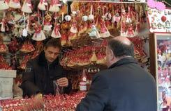 De markt van Kerstmis in Rome Stock Fotografie