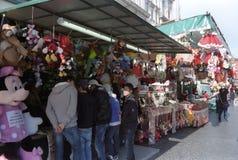 De markt van Kerstmis in Rome stock afbeelding