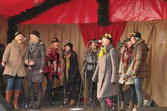 De Markt van Kerstmis van Docklands stock foto