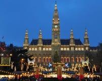 De markt van Kerstmis van Viennas Stock Afbeelding