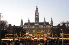 De markt van Kerstmis, Wenen Stock Foto's