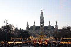 De markt van Kerstmis, Wenen Royalty-vrije Stock Fotografie