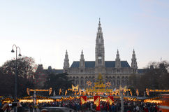 De markt van Kerstmis, Wenen Stock Fotografie