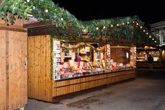 De markt van Kerstmis in Wenen, Oostenrijk Stock Afbeelding