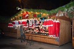 De markt van Kerstmis in Wenen, Oostenrijk Royalty-vrije Stock Afbeeldingen