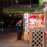 De markt van Kerstmis in Wenen, Oostenrijk Stock Afbeeldingen