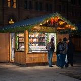 De markt van Kerstmis in Wenen, Oostenrijk Stock Fotografie
