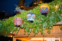 De markt van Kerstmis in Wenen, Oostenrijk Royalty-vrije Stock Foto's