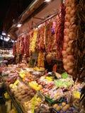 De markt van La Boqueria, Barcelona, Spanje Royalty-vrije Stock Afbeeldingen