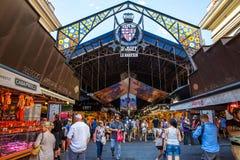 De Markt van La Boqueria in Barcelona, Spanje Stock Afbeelding