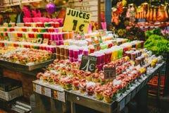 De Markt van La Boqueria in Barcelona, Spanje royalty-vrije stock foto's