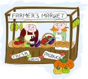 De markt van landbouwers. stock illustratie